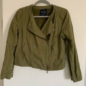 Beautiful embroidered madewell jacket